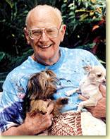 A.C. Clarke with his Dogs